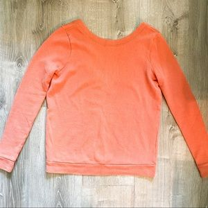 FREE PEOPLE BEACH French Terry Deep V Back Sweater
